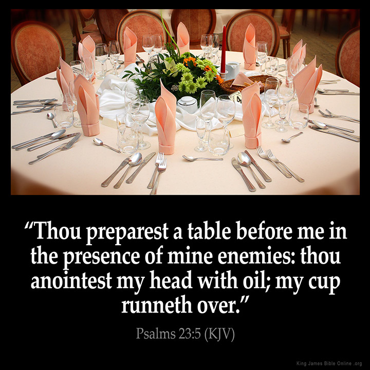 Image result for I have prepared a table for you kjv