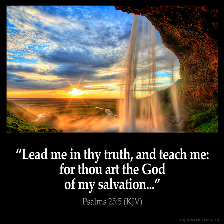 Psalms 25:5 Inspirational Image