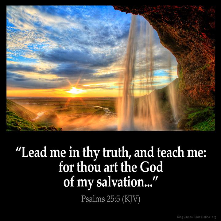 Psalms 25 5 Inspirational Image