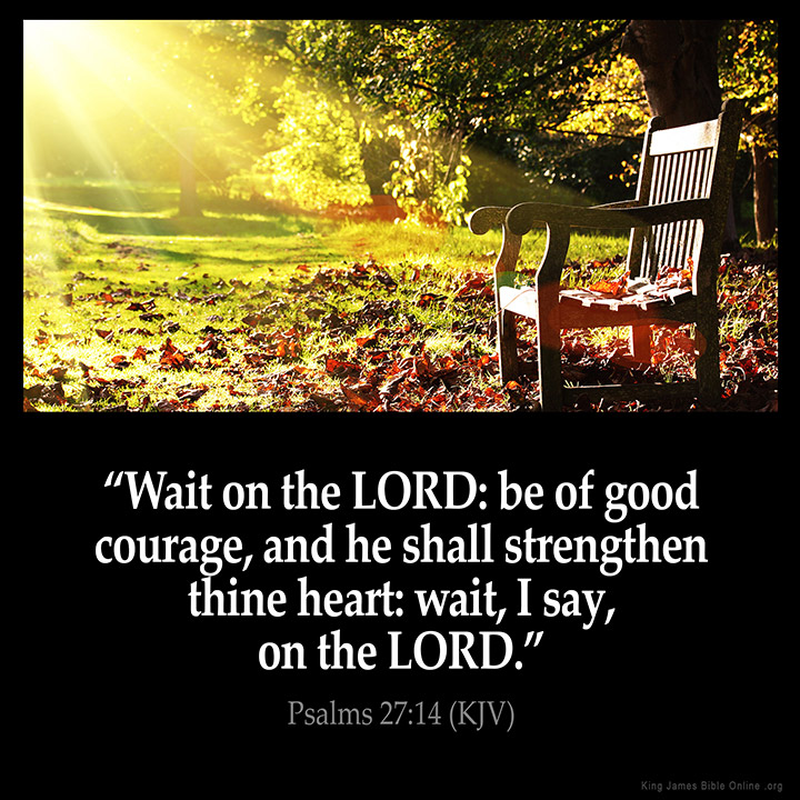 Psalms 27:14 Inspirational Image