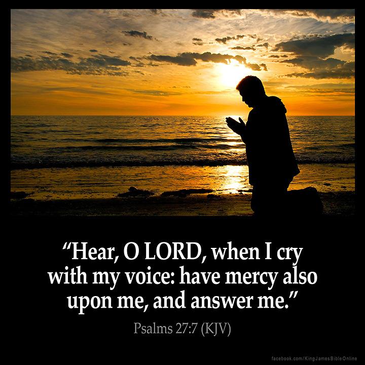 Psalms 27:7 Inspirational Image