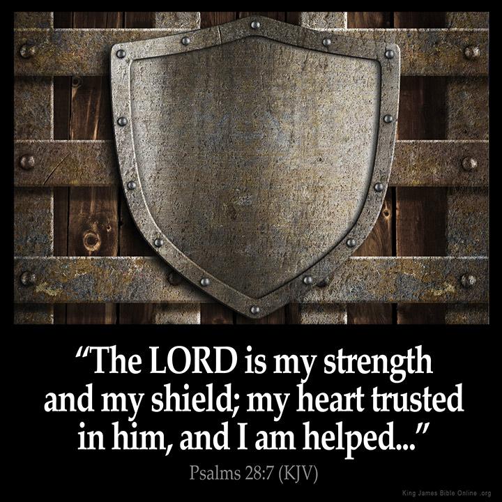 Psalms 28:7 Inspirational Image