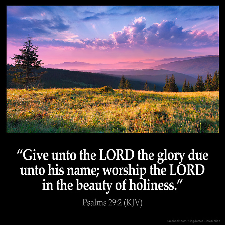 Psalms 29:2 Inspirational Image