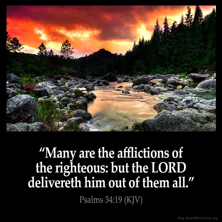 Psalms 34:19 Inspirational Image
