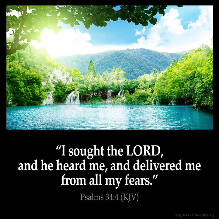 psalms 34 4 inspirational image