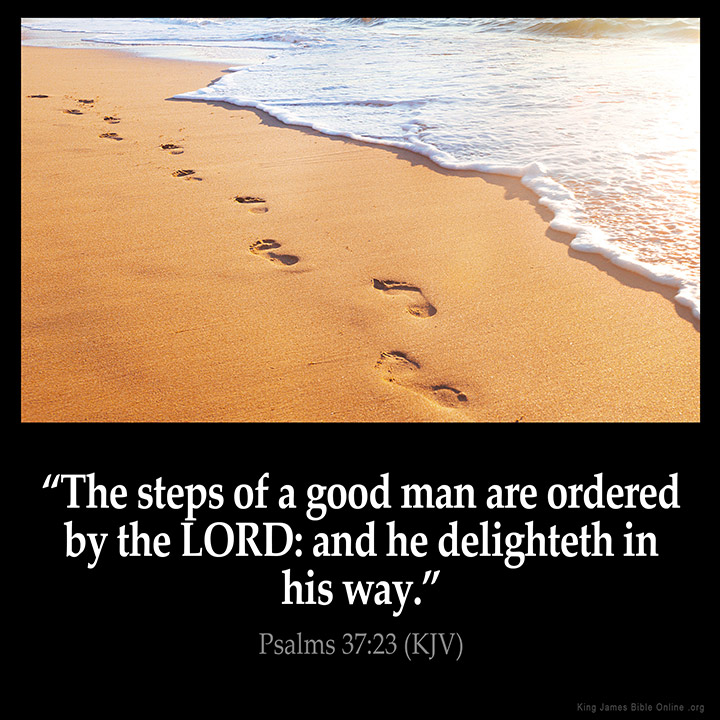 Psalms 37:23 Inspirational Image