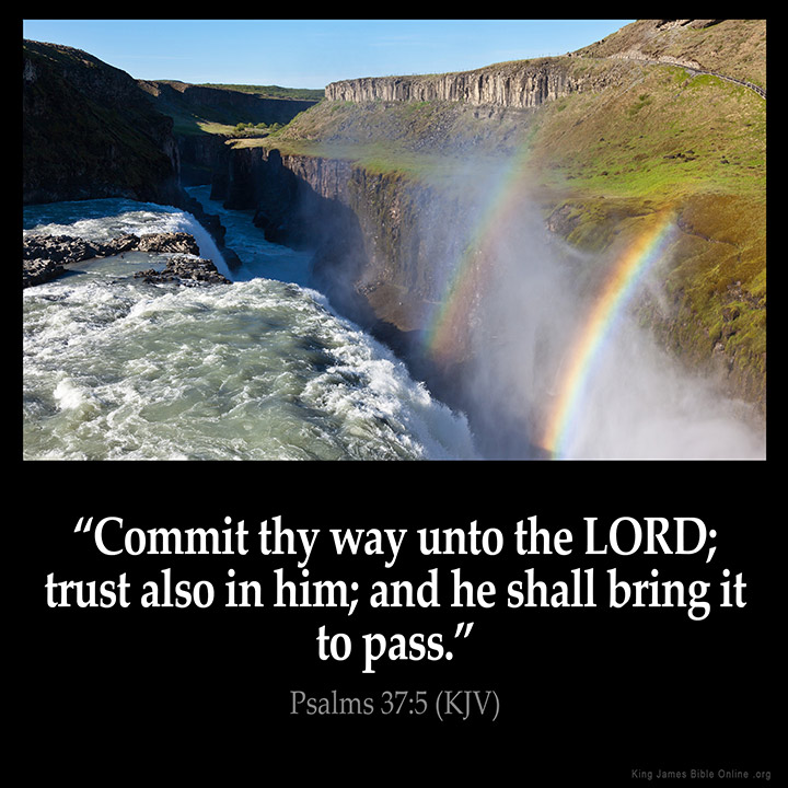 psalms 37 5 inspirational image