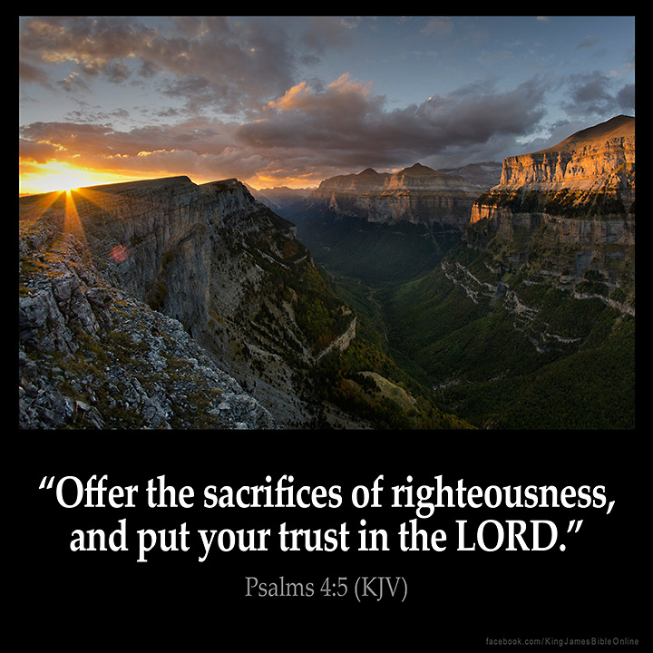 Psalms 4:5 Inspirational Image