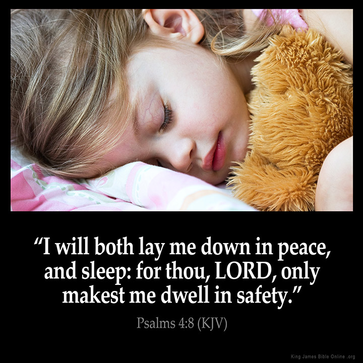 Psalms 4:8 Inspirational Image
