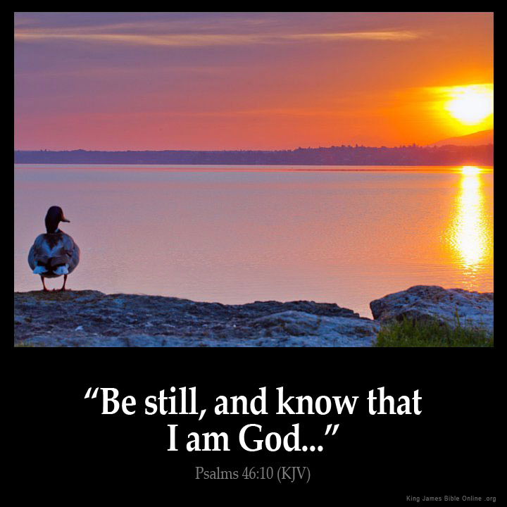 Psalms 46:10 Inspirational Image