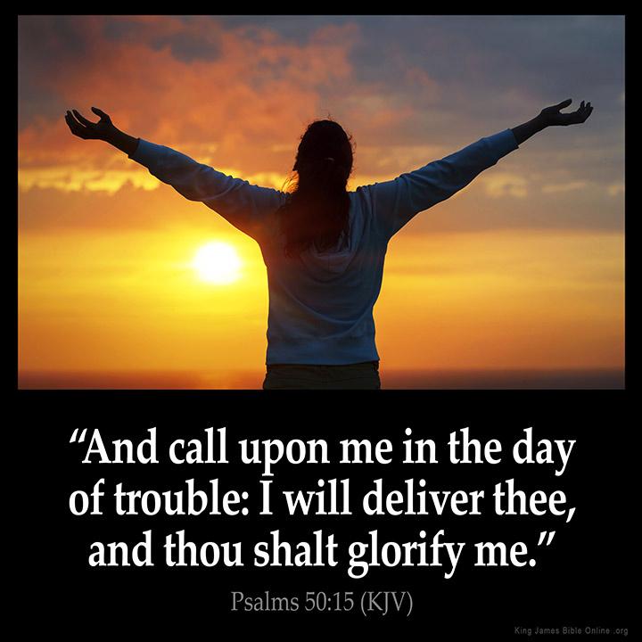 Psalms 50:15 Inspirational Image
