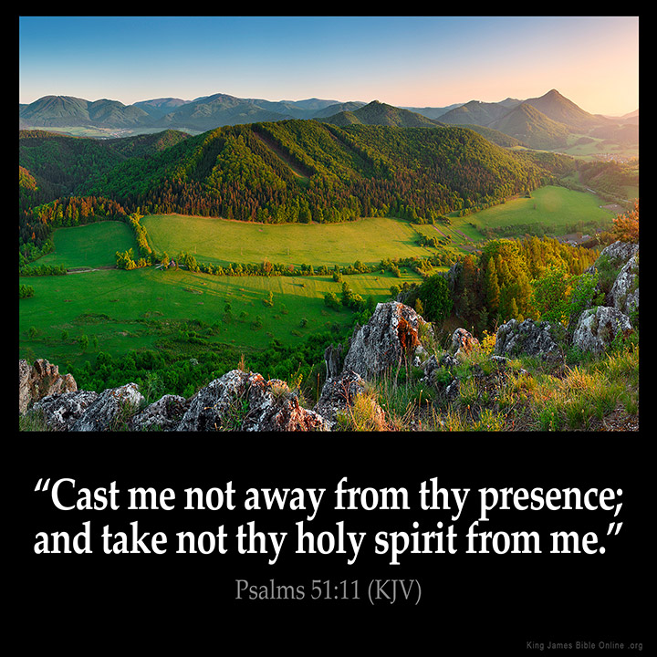 Psalms 51:11 Inspirational Image