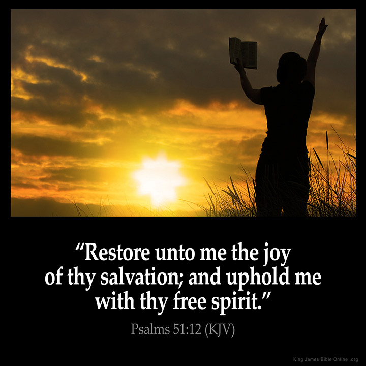 Psalms 51 12 Inspirational Image