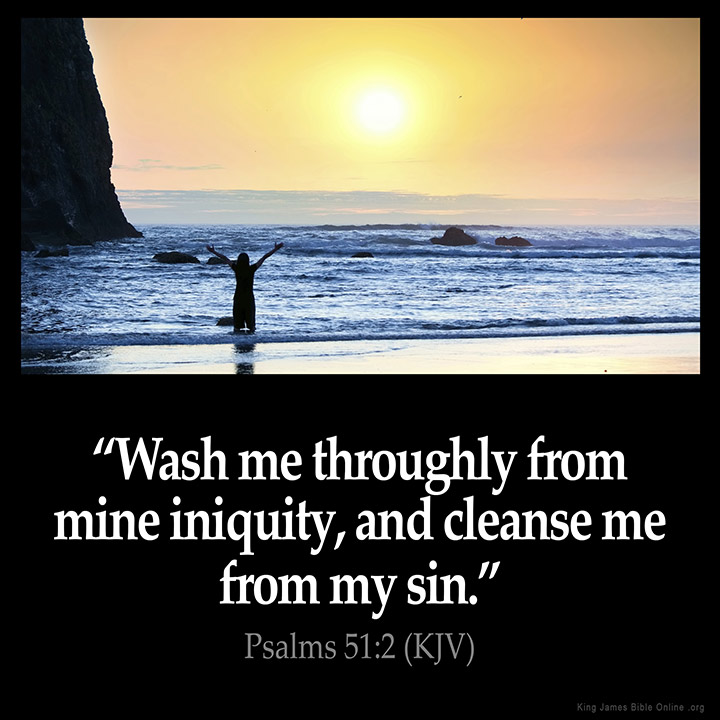 Psalms 51:2 Inspirational Image