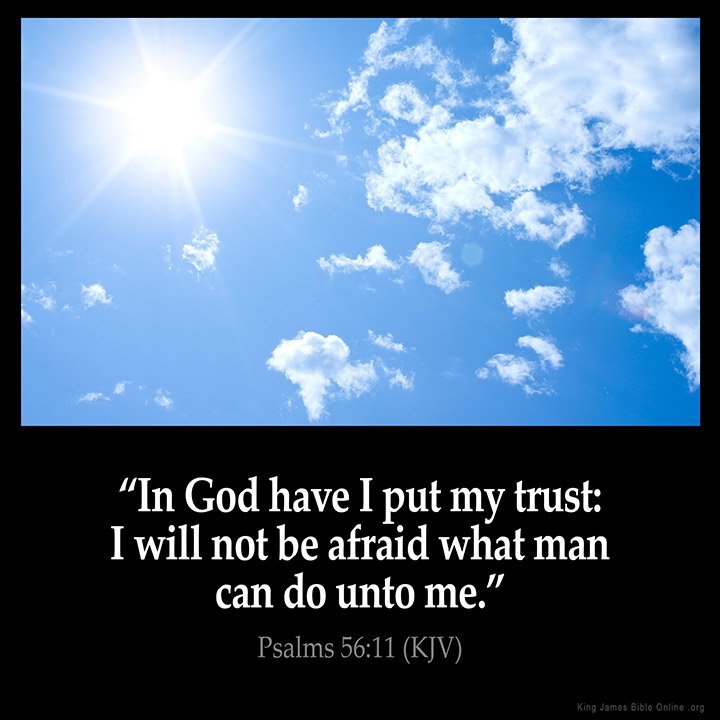Psalms 56:11 Inspirational Image