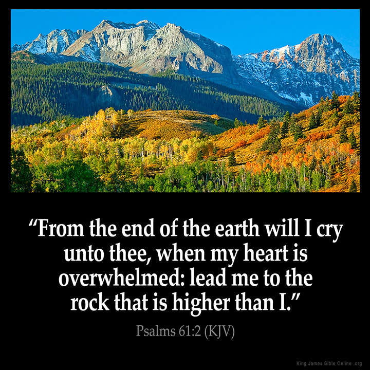 Psalms 61:2 Inspirational Image