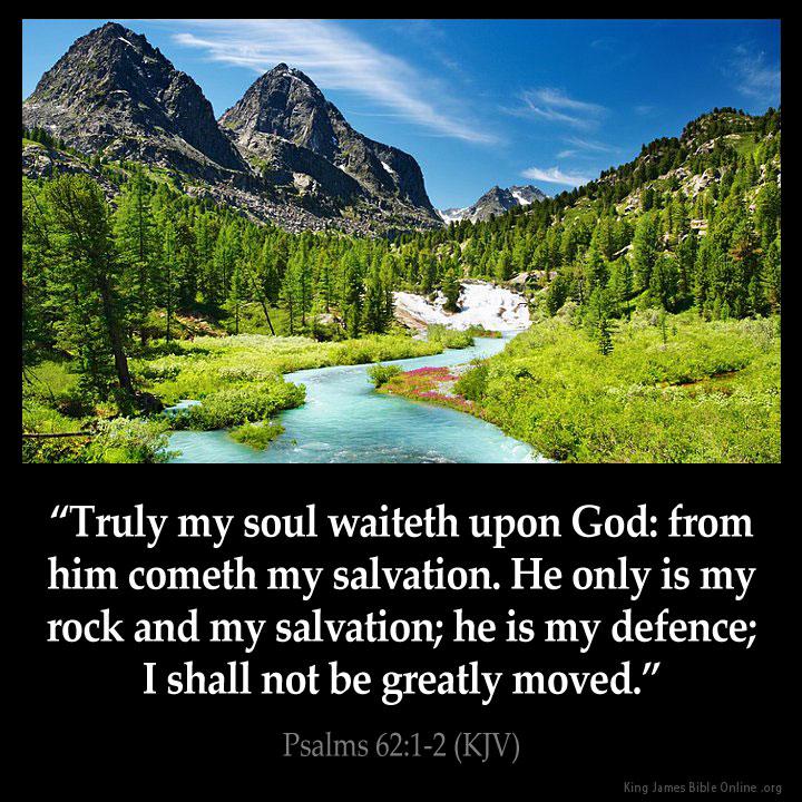 Psalms 62 1 Inspirational Image