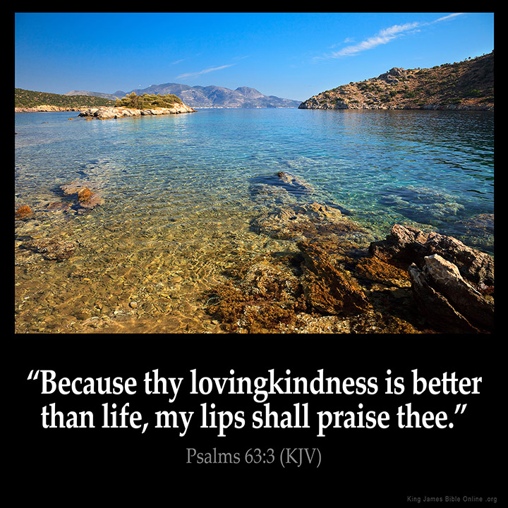 Psalms 63:3 Inspirational Image