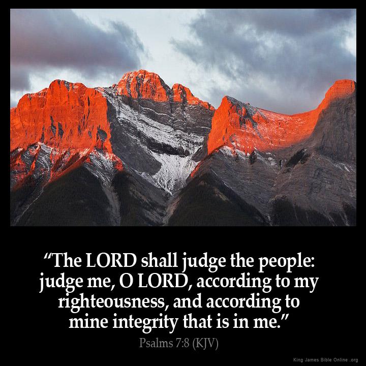 Psalms 7:8 Inspirational Image