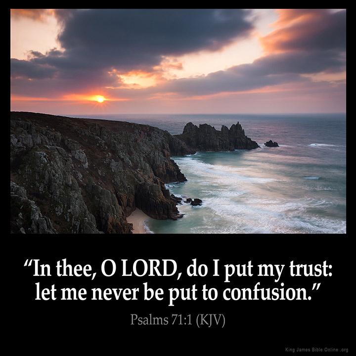 Psalms 71:1 Inspirational Image
