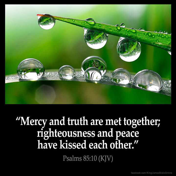 Psalms 85:10 Inspirational Image