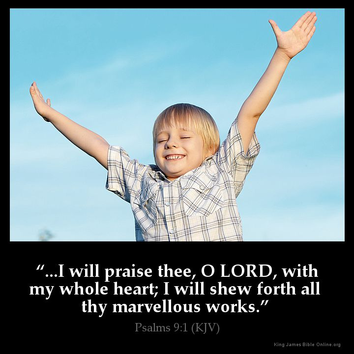 Psalms 9:1 Inspirational Image
