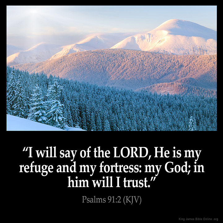 Psalms 91:2 Inspirational Image
