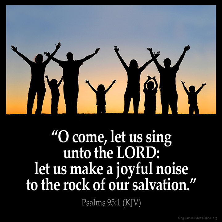 Psalms 95:1 Inspirational Image