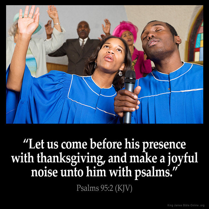 Psalms 95:2 Inspirational Image