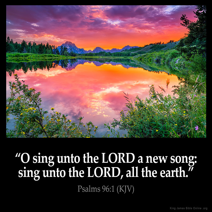 Psalms 96 1 Inspirational Image