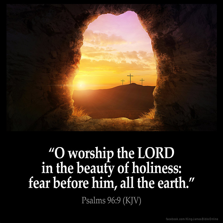 Psalms 96:9 Inspirational Image