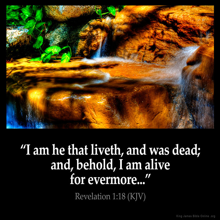 Revelation 1:18 Inspirational Image