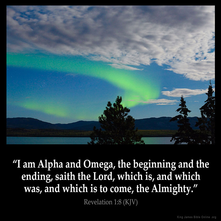 Revelation 1:8 Inspirational Image