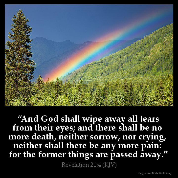 Revelation 21 4 Inspirational ImageUplifting Bible Verses Kjv