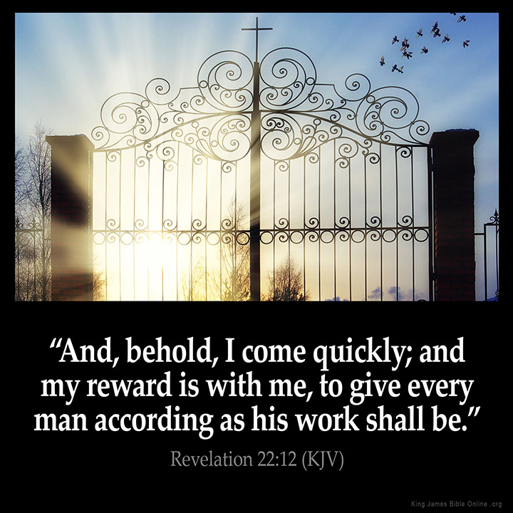 Revelation 22:12 Inspirational Image