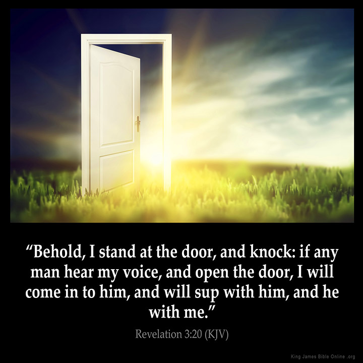 Revelation 3:20 Inspirational Image