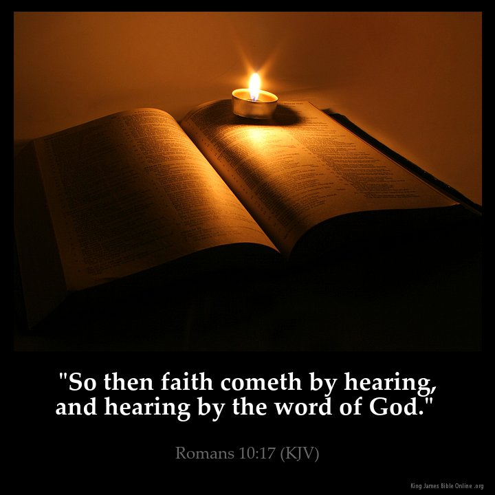 Image result for faith comes by hearing kjv