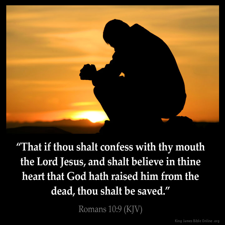 Romans 10:9 Inspirational Image