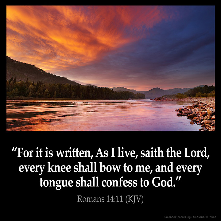 Romans 14:11 Inspirational Image