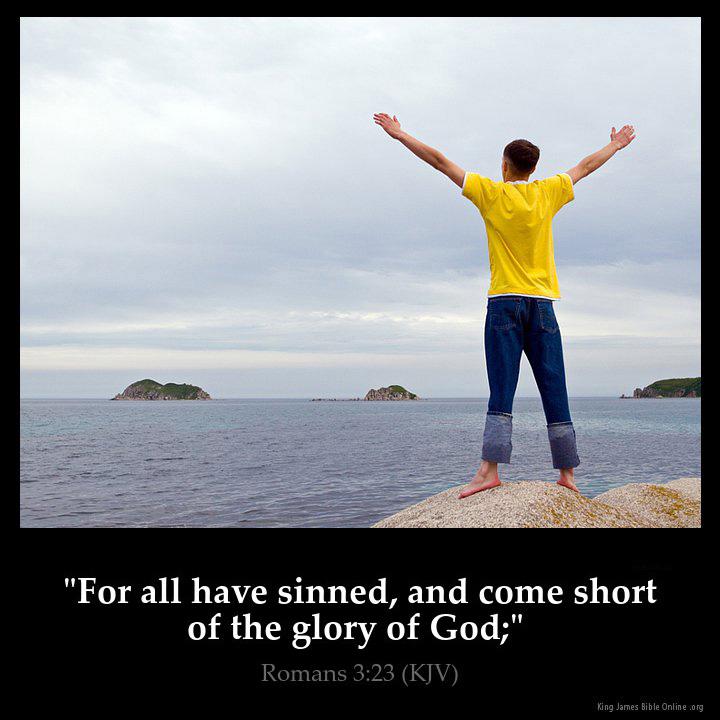 Romans 3:23 Inspirational Image