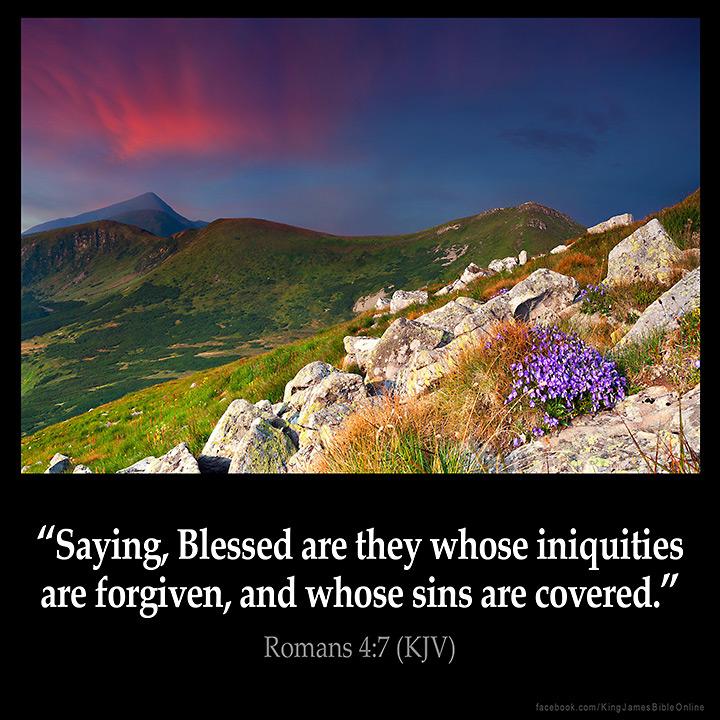 Romans 4:7 Inspirational Image