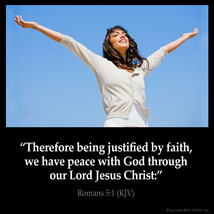 Romans 5:1 Inspirational Image