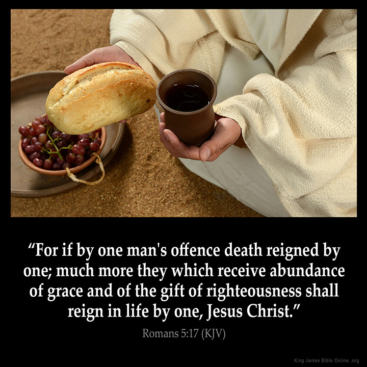 Romans 5:17 Inspirational Image