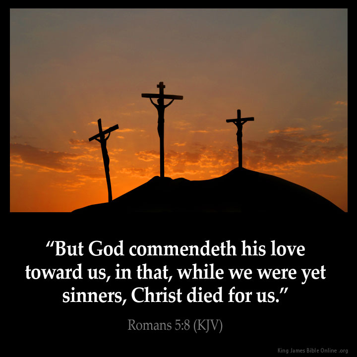 Romans 5:8 Inspirational Image