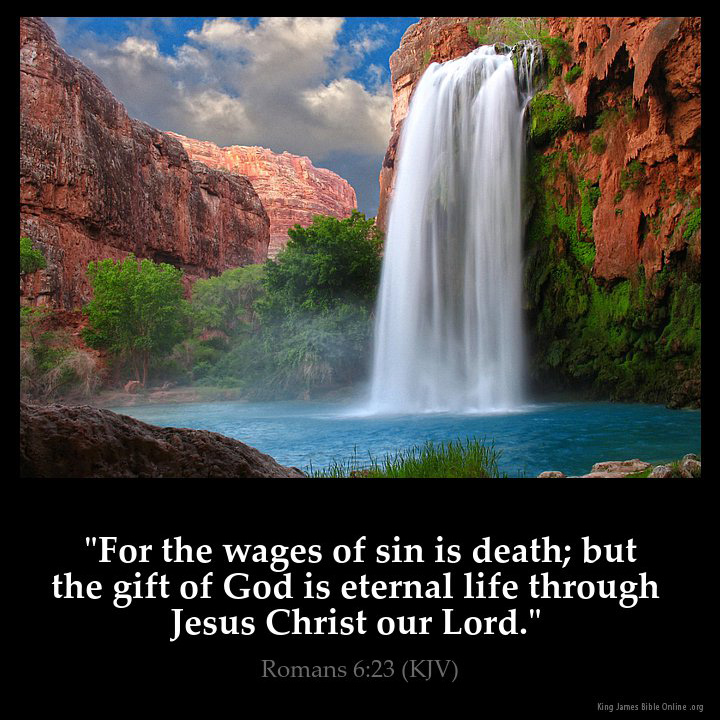 Romans 6:23 Inspirational Image
