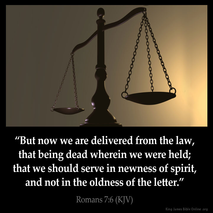 Romans 7:6 Inspirational Image