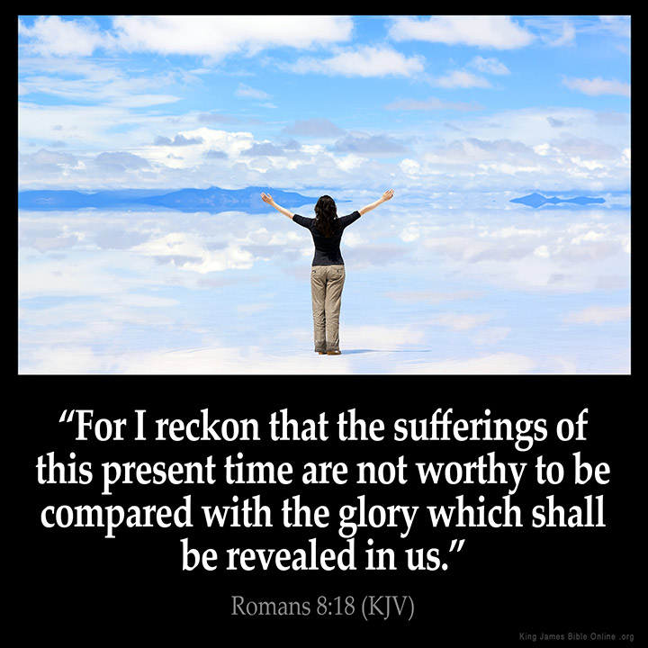 Romans 8:18 Inspirational Image