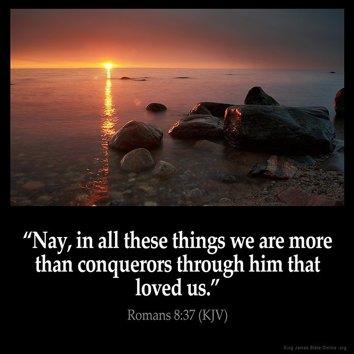 Image result for you are more than a conqueror kjv