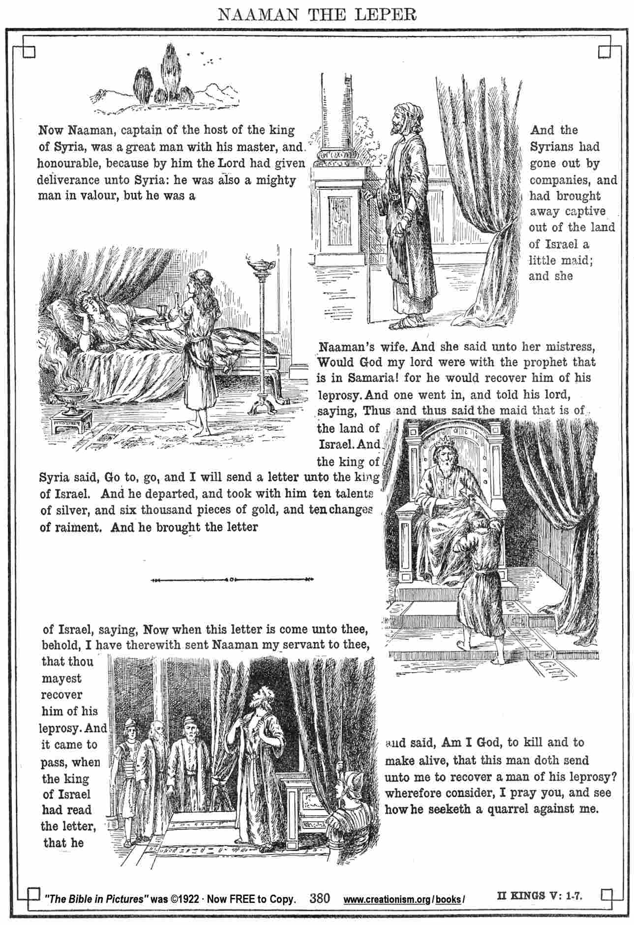 naaman bible coloring pages - photo #48