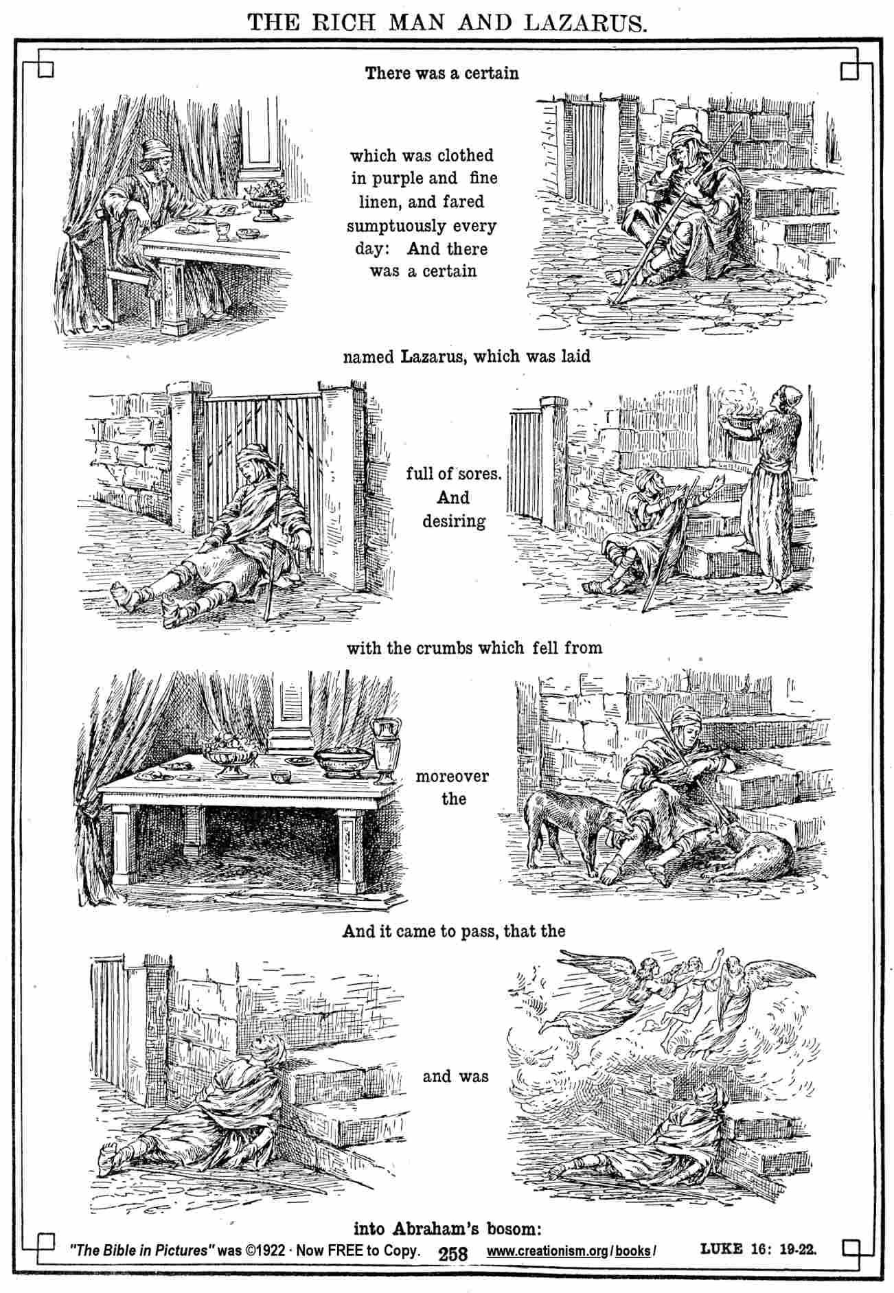 Free Coloring Pages Of Lazarus Poor Man